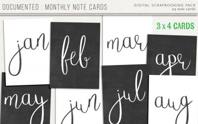 Documented : Monthly Cards